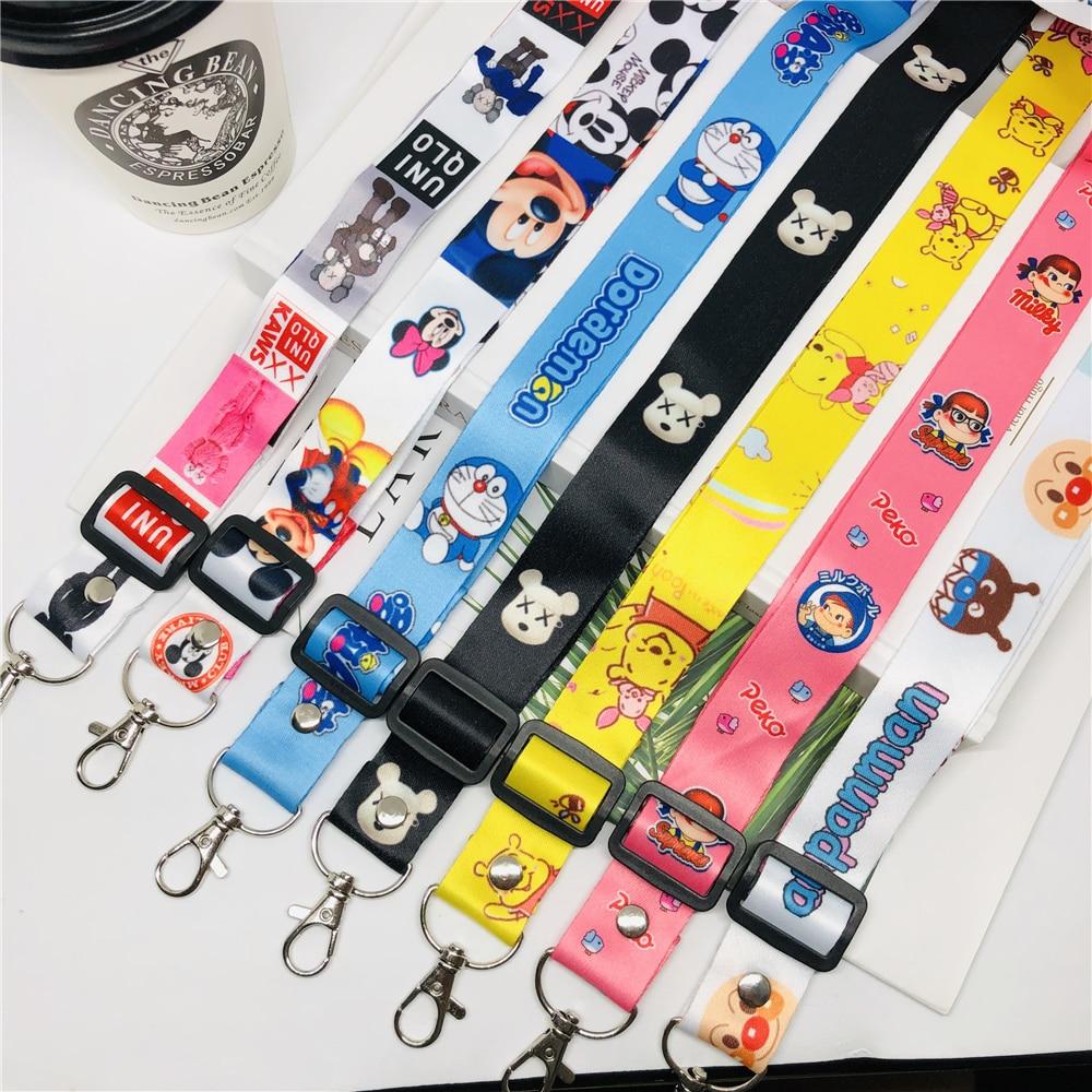Key Neck Strap Lanyard Mickey Mouse Lanyards ID card holder Phone Neck Strap
