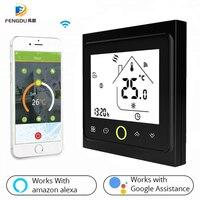 WiFi akıllı termostat sıcaklık kumandası Alexa Google Home ile çalışır yerden ısıtma için su/gaz kazanı