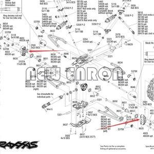 Image 5 - NEW ENRON 1:10 2Pcs Aluminum Alloy Axle Carriers Left & Right #8635 For Traxxas 1/10 E Revo 2.0 VXL Brushless 86086 4
