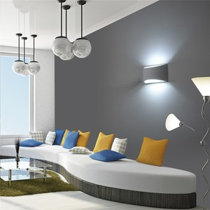 Image 3 - Modern Plaster Wall Light Handmade Gypsum Lamp 110V 220V Wall Mounted LED Sconce Living room Bedroom Luminaire Indoor Wall Lamps