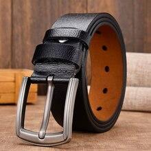 [LFMB] de vaca de cuero genuino de lujo Correa hombre cinturones para hombres nuevos de moda clásico vintage pin hebilla de cuero hebilla de cinturón hombre cinturón