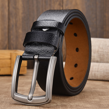 [LFMB]cow genuine leather luxury strap male belts for men new fashion classice vintage pin buckle leather belt male belt men leather belt men high quality cow genuine leather waistband luxury strap for male belts fashion alloy buckle belt men
