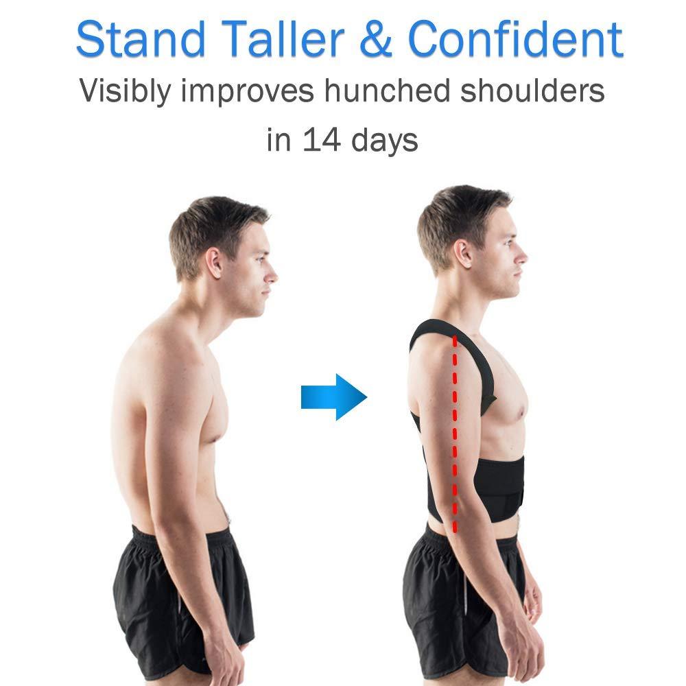Image 2 - Adjustable Posture Corrector Back Support Shoulder Lumbar Brace Support Corset Back Belt for Men-in Braces & Supports from Beauty & Health
