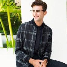 UCAK Brand Fashion Plaid Jacket Men Business Casual Coat Men Clothes 2019 New Arrival Autumn Winter Mnes Jackets And Coats U8010