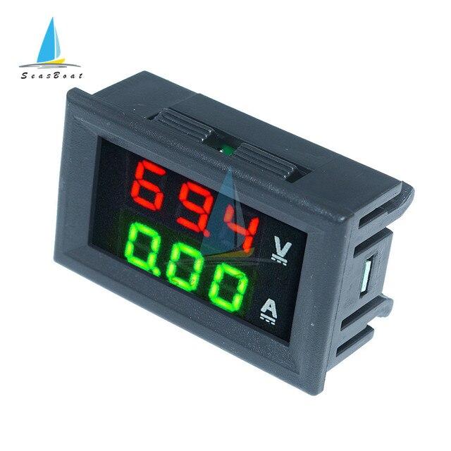 0.56'' 0-100V 10A 50A 100A LED Digital Voltmeter Ammeter Car Motocycle Voltage Current Meter Volt Detector Tester Monitor Panel 3