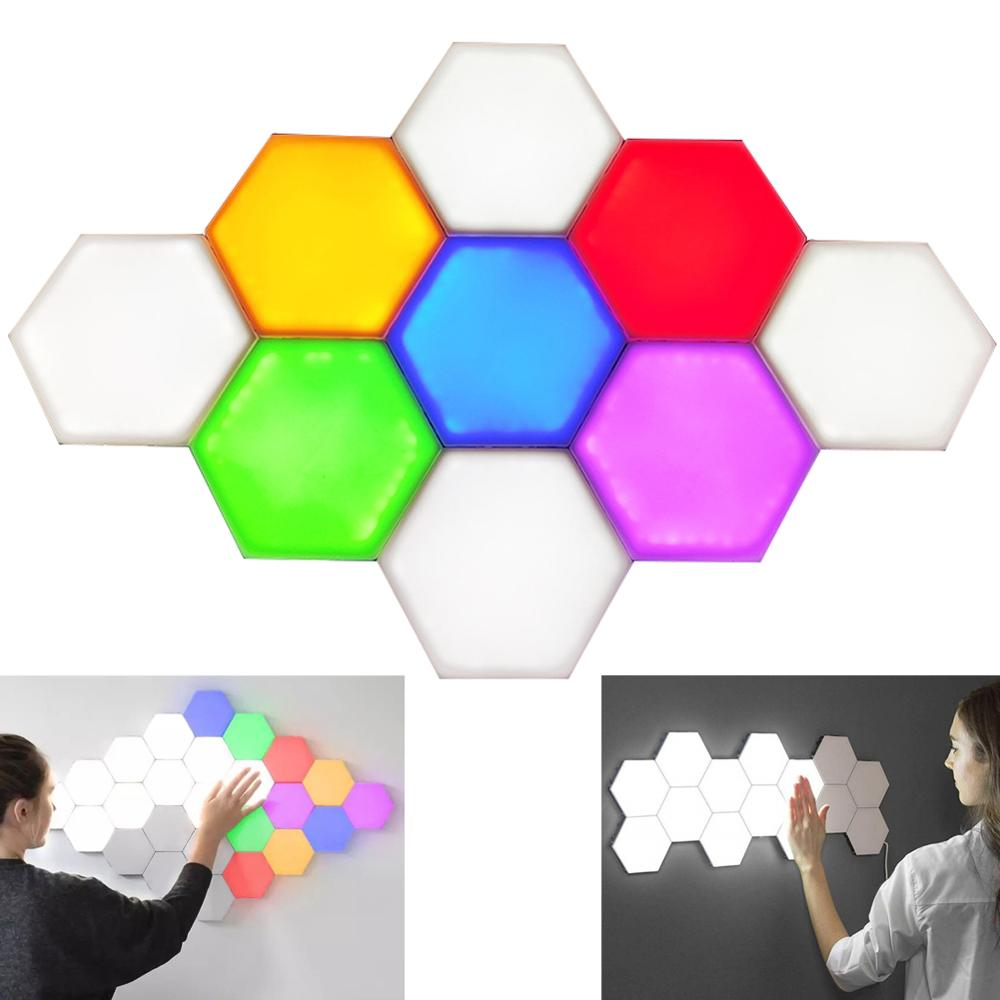 Quantum Lamp Led Modular Touch Sensitive Lighting Hexagonal Lamps Night Light Magnetic Creative Decoration Wall Lampara EU Stand