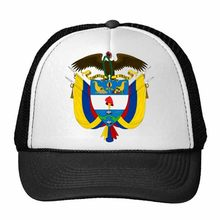 Colombia National Emblem Country Symbol Mark Pattern Trucker Hat Baseball Cap Nylon Mesh Hat Cool Children Hat Adjustable Cap(China)