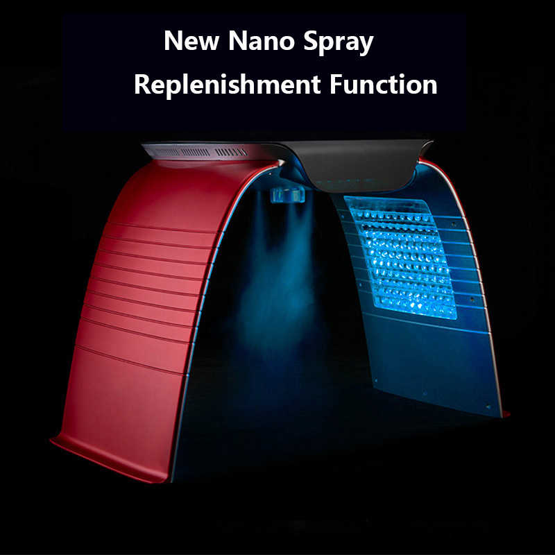 7 Colors Electric Skin Rejuvenation Acne Treatment Hot And Cold Spray Phototherapy Spectrometer PDT/LED Facial Skin Care Device