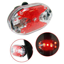 Bike Bicycle Tail Rear Safety Warning Light Taillight Lamp Super Bright Safety Front Tail Light Lamp Back Rear Flashlight Z0813(China)