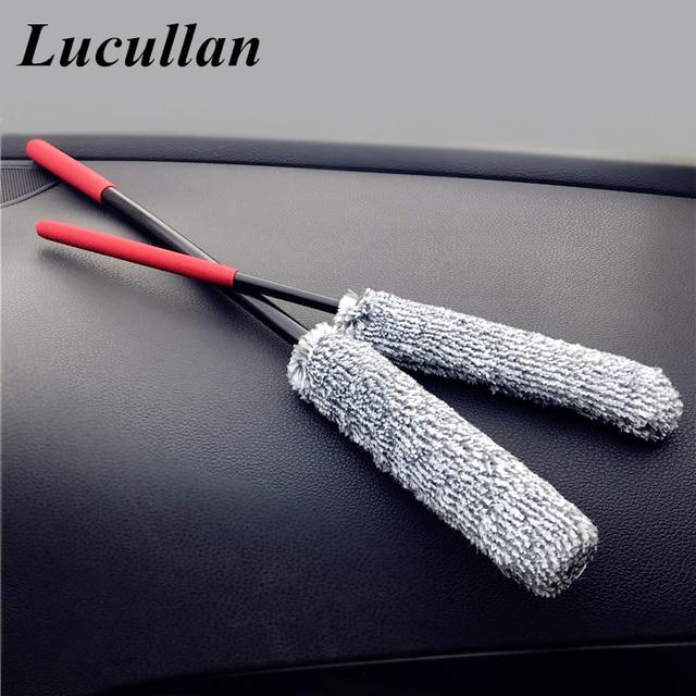 Lucullan 2 חבילה מיקרופייבר PP לערבב פרימיום גלגל מברשת 38/49CM שפת מכונית מברשות עם חזק ניקוי ביצועים