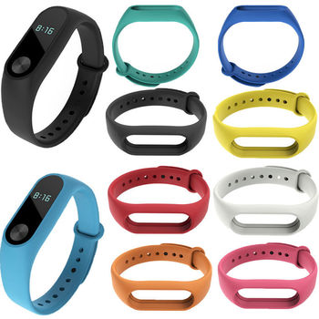 Mi Band 2 Wrist Strap for Xiaomi Silicone Miband Replacement Wriststrap Pulsera Women Men Bracelet Accessories - sale item Watches Accessories