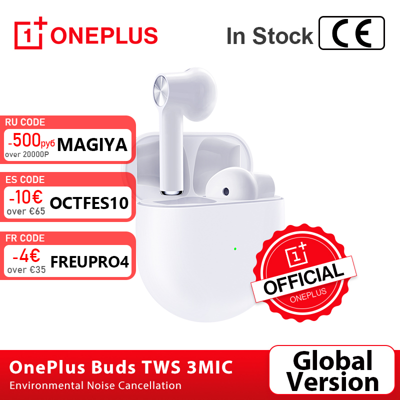 Global Version OnePlus Buds TWS Wireless Earphones Environmental Noise Cancellation 3Mic Oneplus 7t 8 Pro Nord VS Bullet 2
