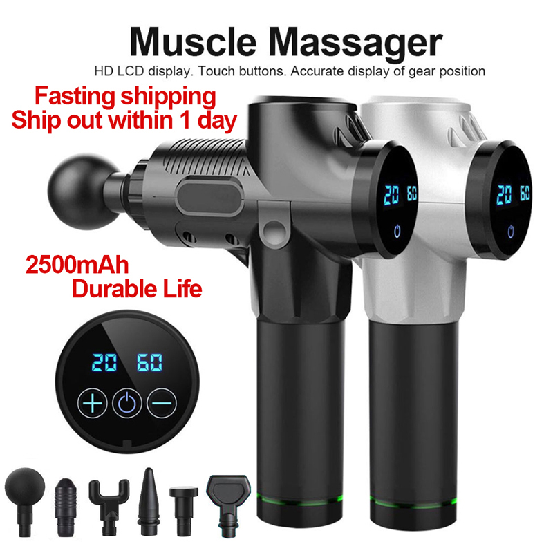 Electric Muscle Massage Gun Deep Tissue Muscle Relax Exercise Fitness