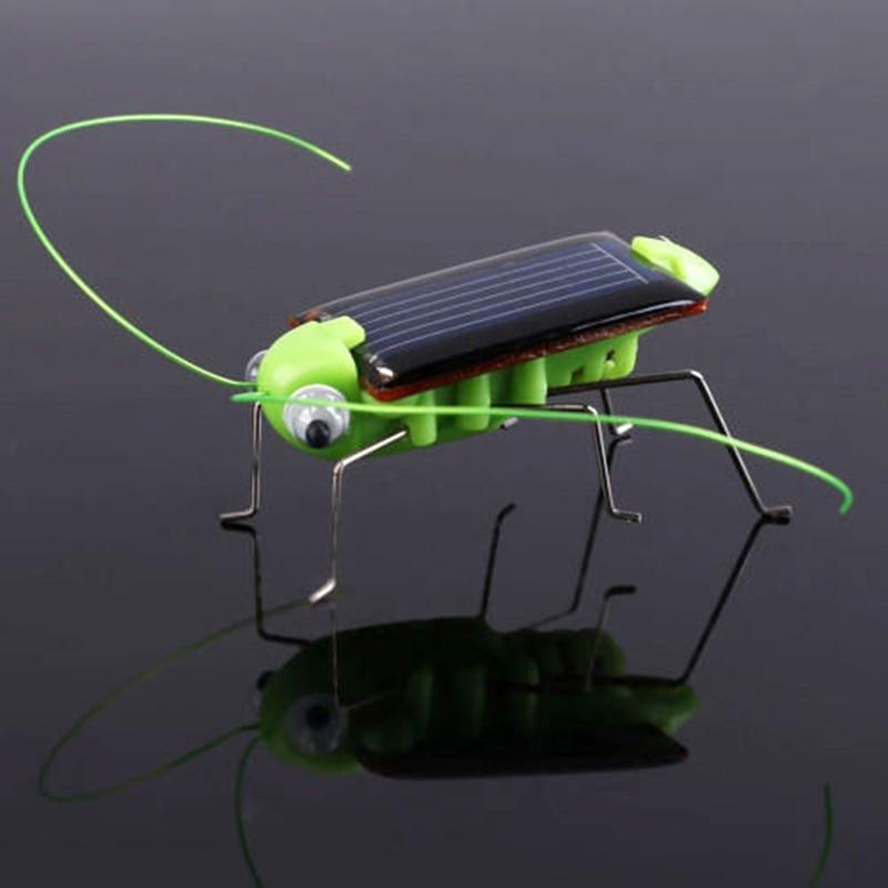 4*1.8 Cm Kids Funny Grasshopper Model Solar Power Toys Children Educational Toys Energy Cricket Christmas Gift Toys Fash