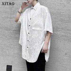 Женская блузка с коррекцией груди XITAO, черная, белая Повседневная Блузка с карманами большого размера, лето 2020, ZP1140