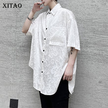XITAO Single Breast Blouse Fashion New Women Black White Pocket Plus Size Goddess Fan Casual 2020 Su
