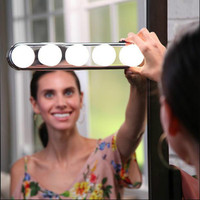 50PCS Bulb Hollywood Led Makeup Mirror Light Suction Cup Installation Dressing Table Vanity Light Wall Lamp Battery Powered