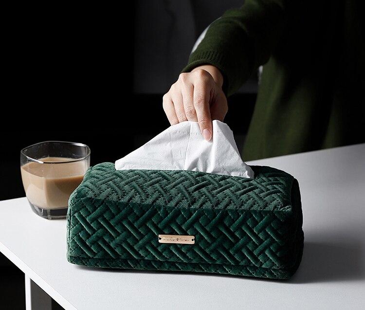 Креативное легкое роскошное постельное белье бархатная коробка прикроватный столик для гостиной Автомобильная бархатная ткань поплин коробка WF8081105