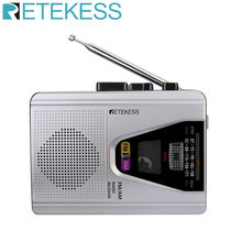 Retekess TR620 FM/AM Portable Radio with Cassette Playback Voice Recorder and Tape Playback Loop Mode Switch