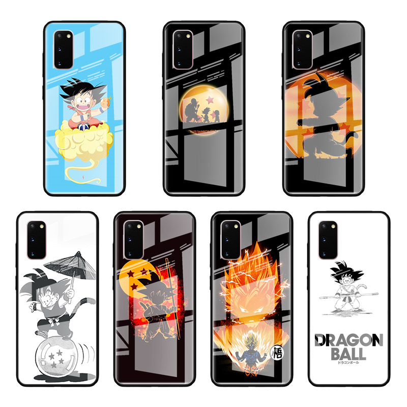 Dragon Ball z Goku Glass Case For Samsung Galaxy S10 S20 Ultra 5G S10e S9 S8 Plus Note 9 10 Lite Tempered Phone Coque|Fitted Cases|   - AliExpress