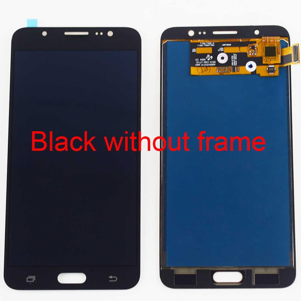 LCD do samsunga Galaxy J7 2016 ekran LCD J710 J710F J710FN J710M J710Y wyświetlacz LCD montaż digitizera ekranu dotykowego ramki