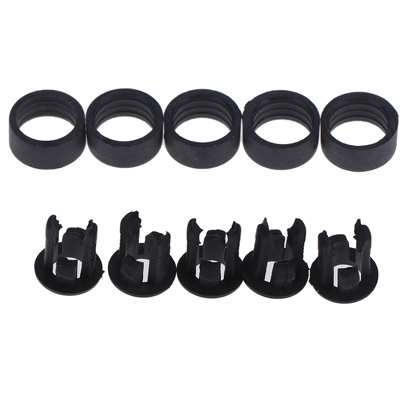 20 Sets 3mm/5mm Plastic LED Holders Clips-Bezels Mounts Cases With Outer Ring Tool Parts