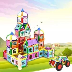 150-438 шт магнитные палочки с металлическими шариками замок дизайнерские Магниты Строительство образовательное строительство игрушка для д...