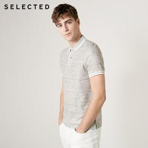 Image 3 - اختيار الرجال الصيف الكتان مزج مخطط قصيرة الأكمام Poloshirt S