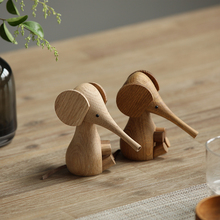 Nordic Solid Wood Elephant Household Furnishings European Danish Puppet White Oak Elephant Beech Creative Wood Crafts стоимость