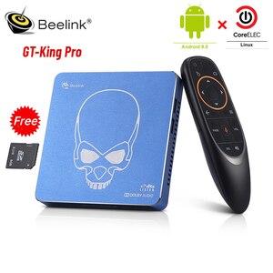 Beelink GT-rey Pro TV BOX Android 9,0 CoreELEC Linux Dual OS 4GB RAM 64GB ROM de alta fidelidad de sonido sin pérdidas DTS Dolby 4K 2,4G/5,8G WiFi