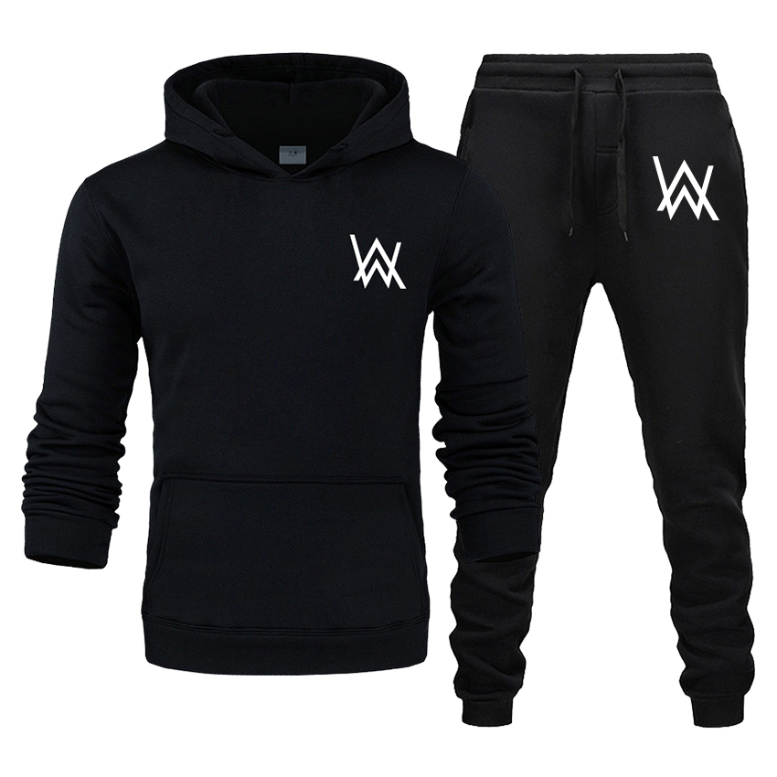 Men's And Women's Suits Printed Hoodies Casual Sports Pants Autumn And Winter Cycling Long Sleeve 2 Piece Sportswear Track Suit