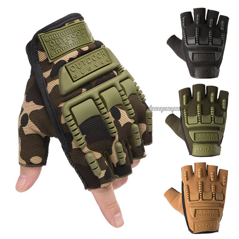 Half Finger Military Airsoft Gloves Protective Outdoor Climbing Shooting Paintball Gloves Non-Slip Tactical Combat Gloves