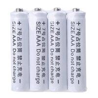 4Pcs Keine Power 10440 LR03 AAA Dummy Gefälschte Batterie Setup Shell Platzhalter Zylinder Leiter für AAA Batterie Eliminator