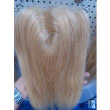 """18 дюймов Цвет блонд 613# шелковая основа закрытие прямые(""""* 5"""") человеческие волосы Продукты Волосы для наращивания гладкие"""