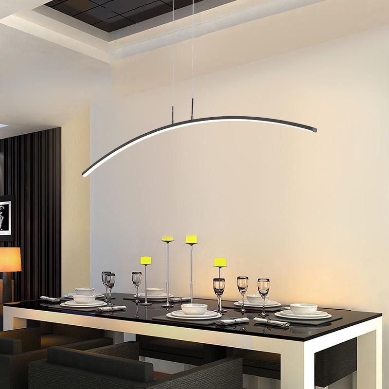 Современный подвесной светильник-люстра для офиса, столовой, гостиной, кухни, домашнего декора, блестящий светодиодный светильник, черная