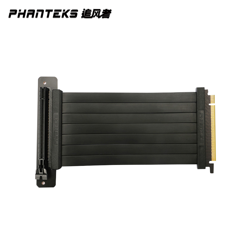 Phanteks PCI-E x16 Video Card Extension Cable, Vertically 180 ° To 90° 220MM,600MM Install Fit RTX2080Ti/2070 Anti Interference 1