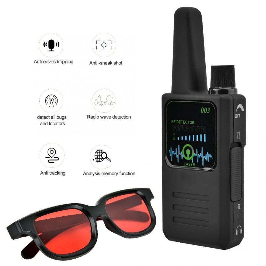 M003 Multi function Anti Espionage Anti tracking Camera Wireless Signal Detector with Glasses New-in Anti Candid Camera Detector from Security & Protection