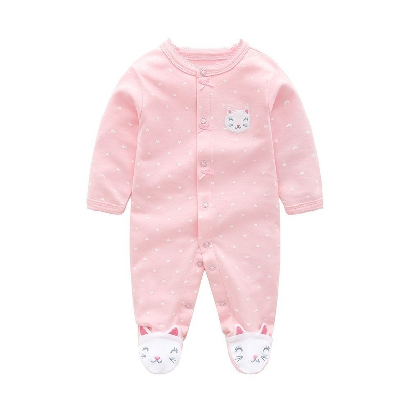 Disney Bebê Do Inverno Da Menina Roupas de Algodão Macacão de Bebê Primavera Roupas de Bebê Menino Roupa Do Bebê Recém-nascido Roupas Bebe Infantil Macacões