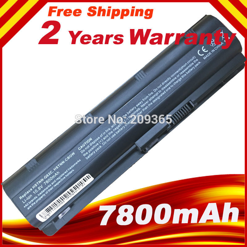 7800mAh 9 Cells mu06 Laptop battery for HP Notebook PC 593553-001 for Pavilion g4 G6 G7 G32 cq42 593562-001 dv4 dv6 MU09 image