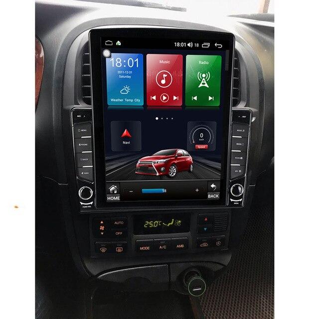"9.7 ""Android 10.1 pour Hyundai Sonata 2003-2009 Tesla Type autoradio multimédia lecteur vidéo Navigation GPS RDS pas de dvd"