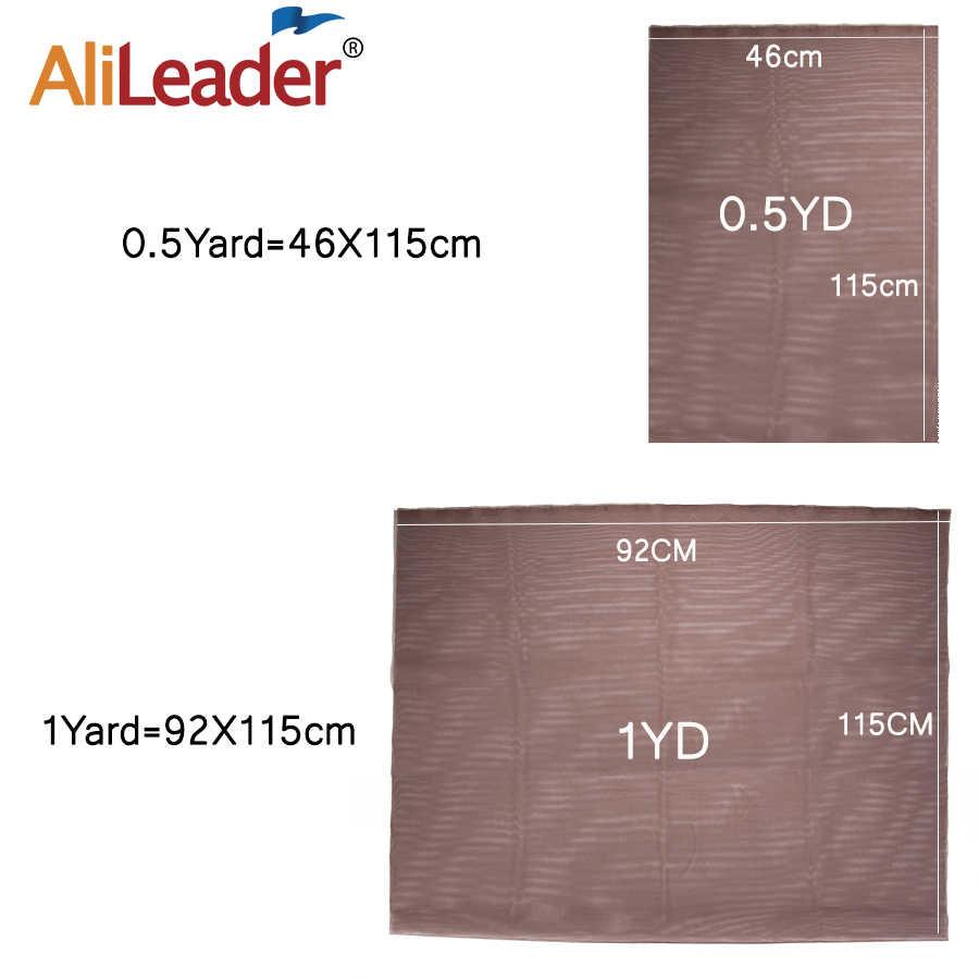 Alileader 46Cm x 51Cm İsviçre dantel Net Hairnet kapatma peruk yapma araçları kahverengi dantel peruk kap aksesuarları peruk kapaklar Net peruk yapmak için