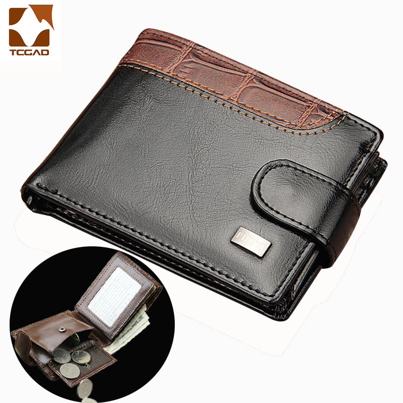 Wallet Men's Clutch Short Men Wallets Purses Portafoglio Uomo Patchwork Leather Carteira  Masculina Couro Card Holder 2019