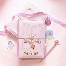 Держатель для карт, аниме, экшн книга сакуры, волшебный блокнот, Милая луна, звезда, дневник, набор канцелярских принадлежностей