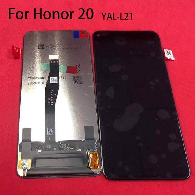 العرض الأصلي لهواوي الشرف 20 YAL L21 LCD محول الأرقام بشاشة تعمل بلمس استبدال لهواوي الشرف 20 شاشة LCD