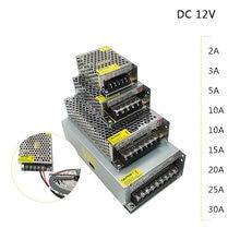 12 V fonte de Alimentação Unidade DC12V 1A 2A 3A 5A 10A 15A 20A Transformador AC 110V 220 V 220 V DC Volts 12 12 V LEVOU Driver para Tira CONDUZIDA