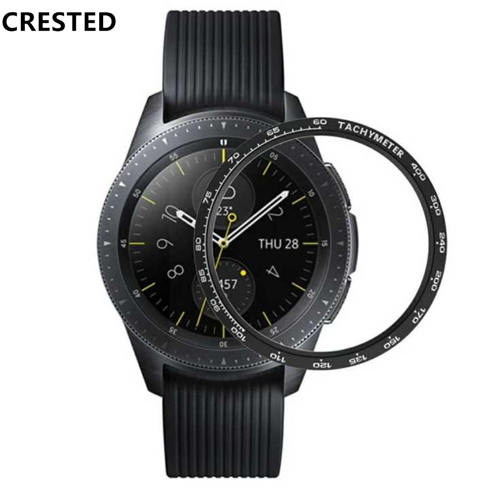 Gear S3 frontier Bezel For Samsung Galaxy Watch 46mm 42mm Gear S3 Classic Ring Adhesive watch case Cover Anti watch accessories