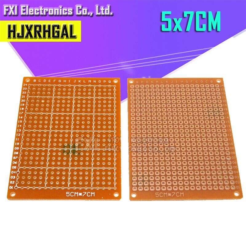 10 шт. 5x7 см 5*7 прототип бумага Медь PCB Универсальный Эксперимент Матрица платы igmopnrq