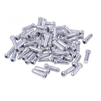 100 sztuk drutu rowerowego zaślepki końcówka kabla czapki dla przerzutki hamulca Shifter cable porady MTB Road Bike akcesoria rowerowe tanie i dobre opinie cap137 Przewód hamulcowy Kabel zestawy Aluminium