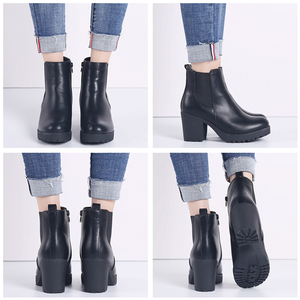 Image 4 - TKN Genuine boots women ankle boots winter snow boots genuine leather boots for women fashion zip chelsea boots new arrival 1902