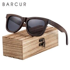 BARCUR Natural Wooden Sunglasses for Men